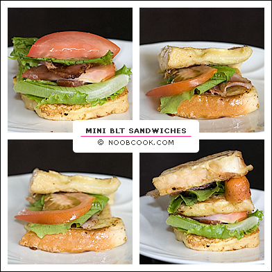 Mini BLT Sandwiches (Collage)