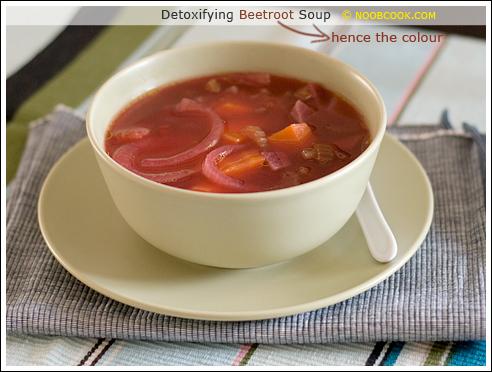 Detoxifying beetroot soup