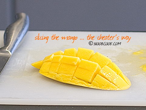 Slicing the mango, the cheater's way