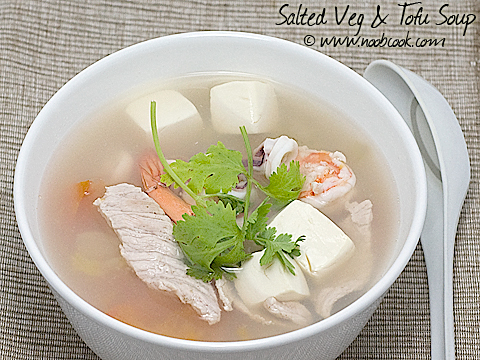 Salted Vegetables & Tofu Soup (咸菜腐乳汤)