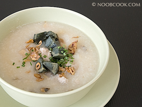 Pork Porridge with Century Egg