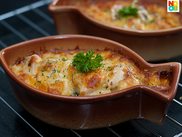 Chicken and Mushroom Baked Rice Recipe
