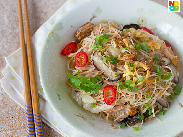 Fried Bee Hoon with Stewed Pork Recipe