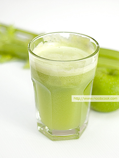 Celery and Green Apple Juice