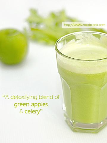 Celery and Green Apple Juice