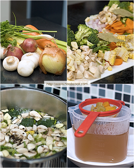 Preparing Vegetable Broth