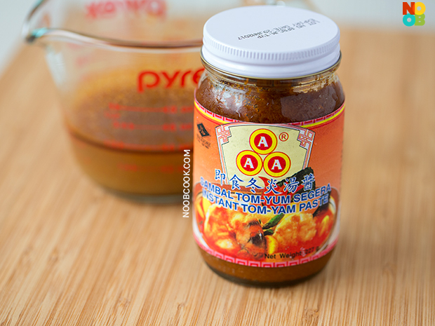 This is the tom yum paste I used. Not saying it's the best because honestly, I did not try that many, but this is easily accessible at local supermarkets and have served me well :)