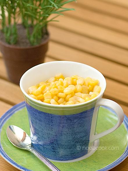 5 minutes cup corn