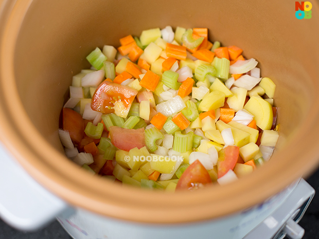 Diced Vegetables (Chinese Minestrone Soup Recipe)