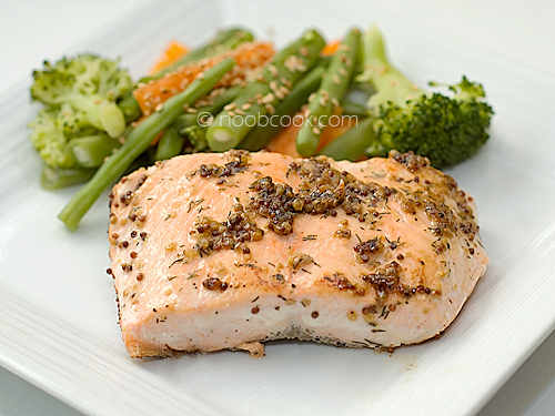 Pan Fried Honey Mustard Salmon