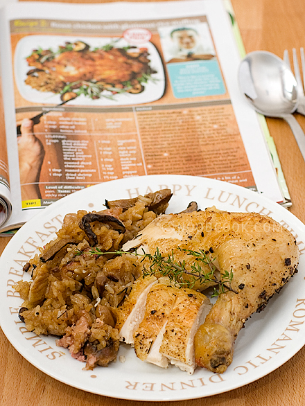 Roast Chicken with Lo Mai Kai Stuffing