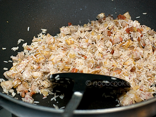 Preparation for yam rice