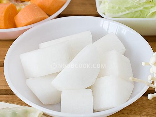daikon (white carrot)