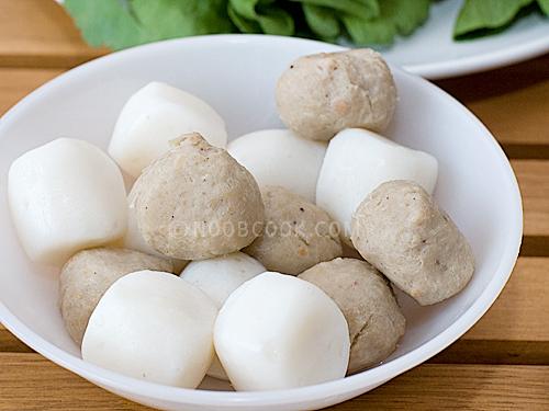 meatballs (fish ball and pork ball)