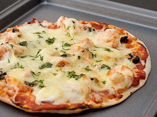Seafood Pita Pizza