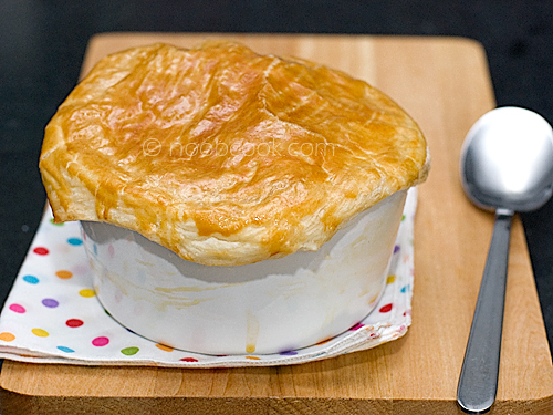 How to make chunky soup with puff pastry