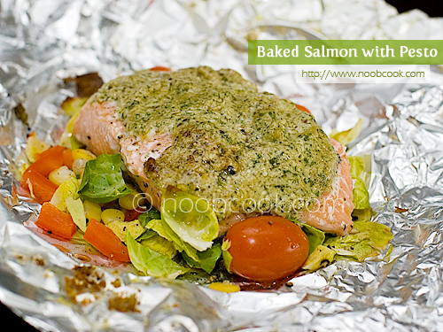 Baked Salmon with Pesto