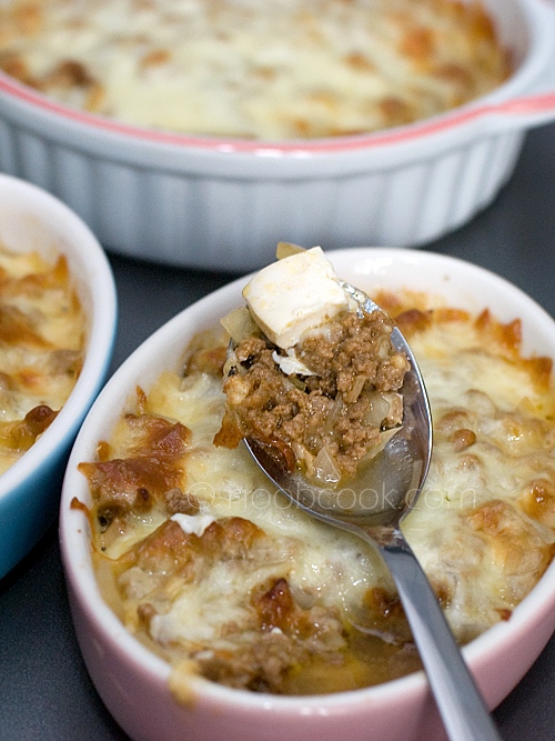 Baked Tofu, Beef and Cheese