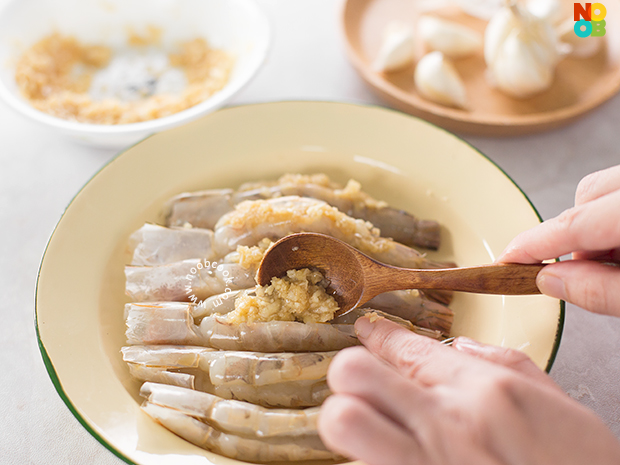 Steamed Prawns with Garlic Recipe