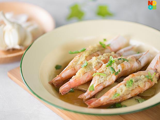 Steamed Prawns with Garlic Recipe