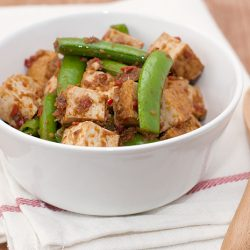 Sambal Beancurd with Sugar Snap Peas Recipe