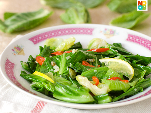 Stir-fried Baby Kailan with Salted Fish Recipe