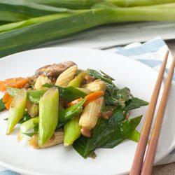 Stir-fry Chinese Leeks Recipe