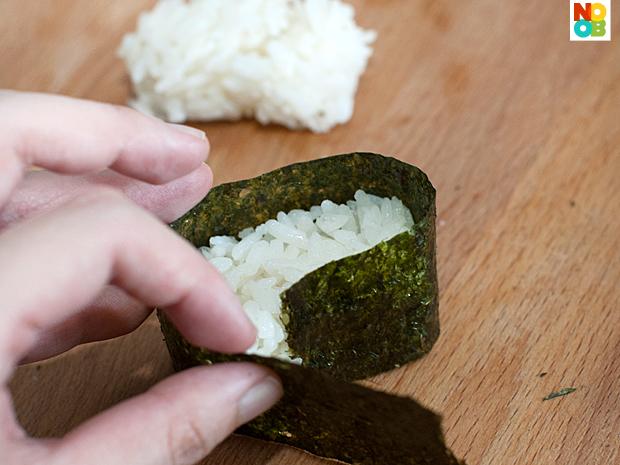 Making sushi (nigiri)