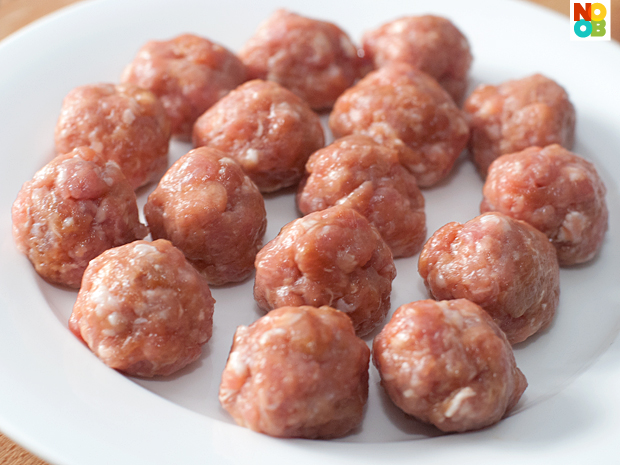 Pork balls (before cooked)