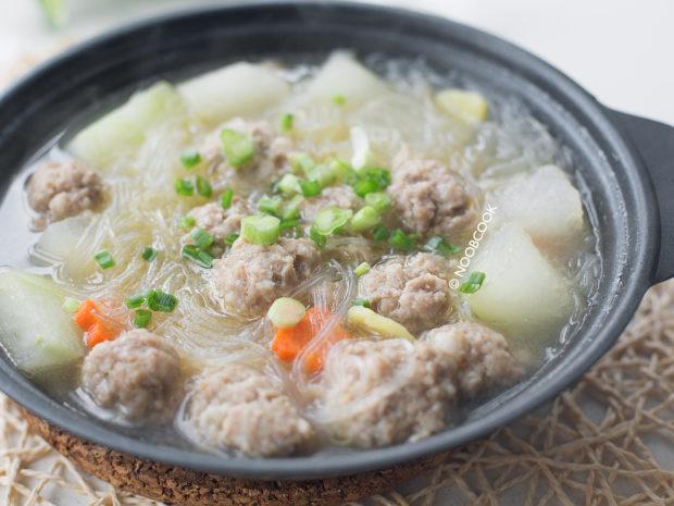 Winter Melon Soup with Pork Balls Recipe