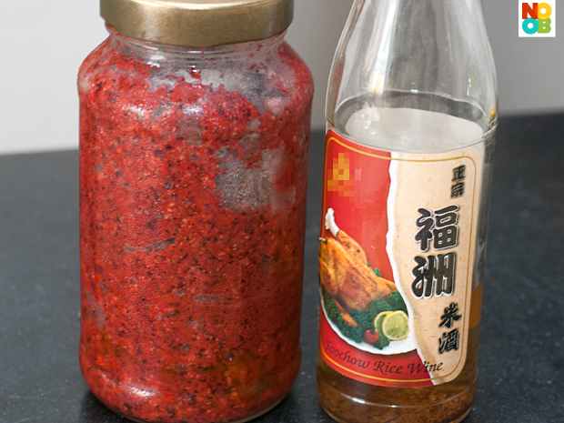 Red Glutinous Wine Lees & RIce WIne