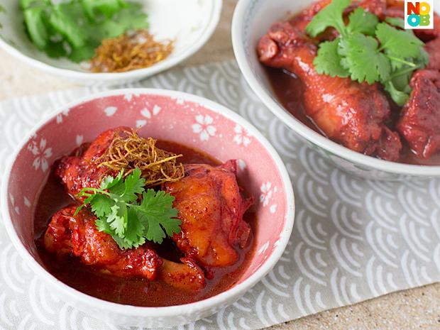 Red Glutinous Wine Chicken Recipe