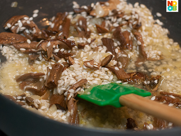 Cooking Porcini Risotto