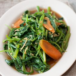 Stir-fried Chinese Spinach Recipe