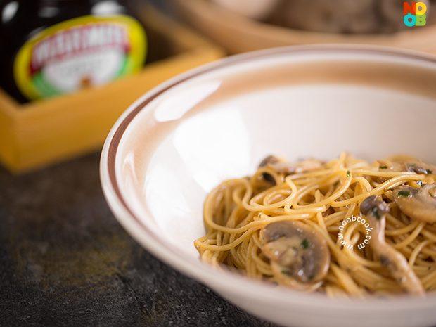 Marmite Mushroom Pasta Recipe
