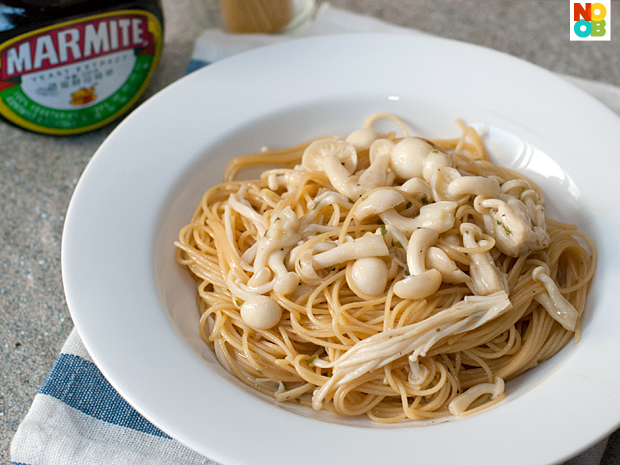 Marmite Pasta with Mushrooms Recipe