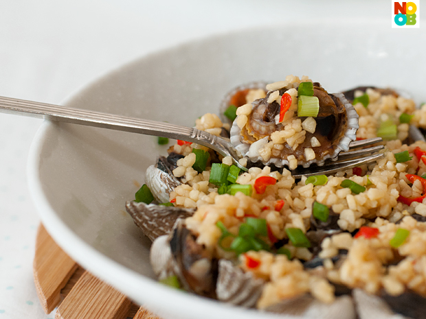 Steamed Cockles with Garlic & Chilli Recipe