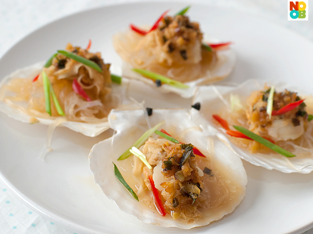 Chinese-style Steamed Scallops Recipe