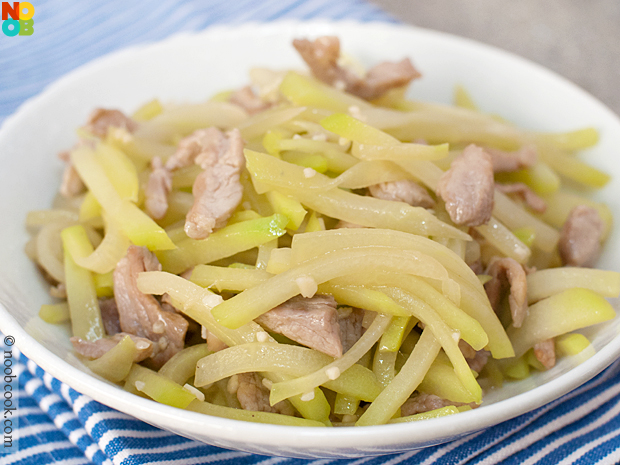 Chayote with Pork