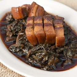 Steamed Mui Choy with Pork Belly