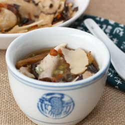 Steamed Herbal Chicken Soup