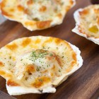 Baked Cheese Scallops