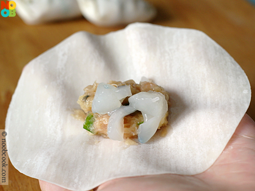 How to wrap Chinese potsticker (dumpling)