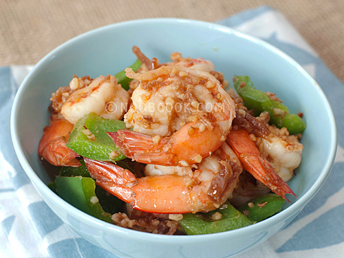 Stir-fry Prawns in XO Sauce