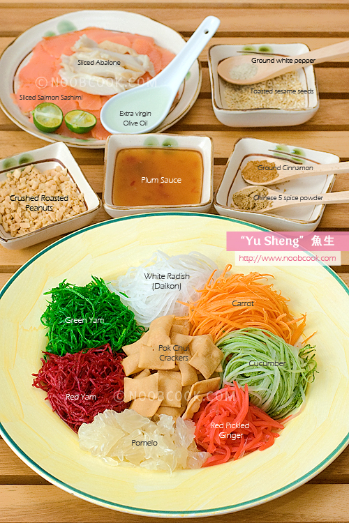 Yu Sheng Ingredients
