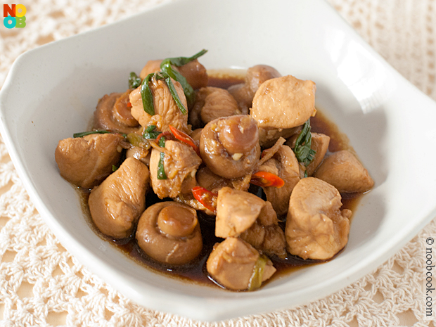 Stir-fry Chicken with Ginger and Scallion Recipe