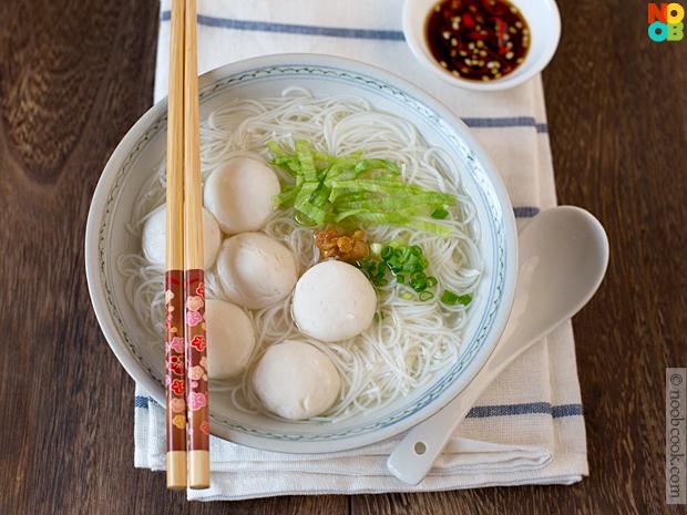 Fish Ball Noodles Soup