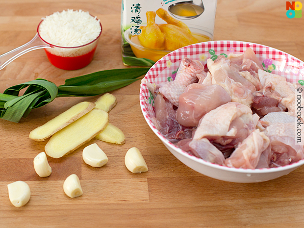 Rice Cooker Chicken Rice (Ingredients)