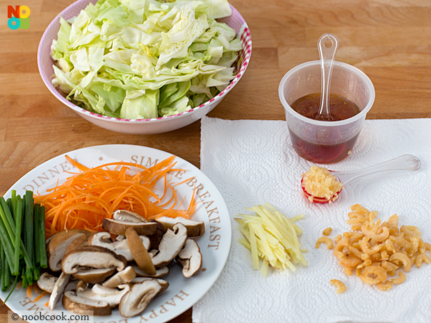 Stir-Fry Cabbage Ingredients