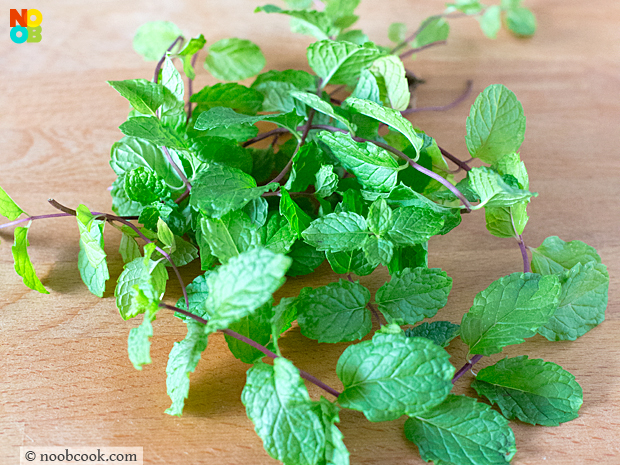 home-grown mint